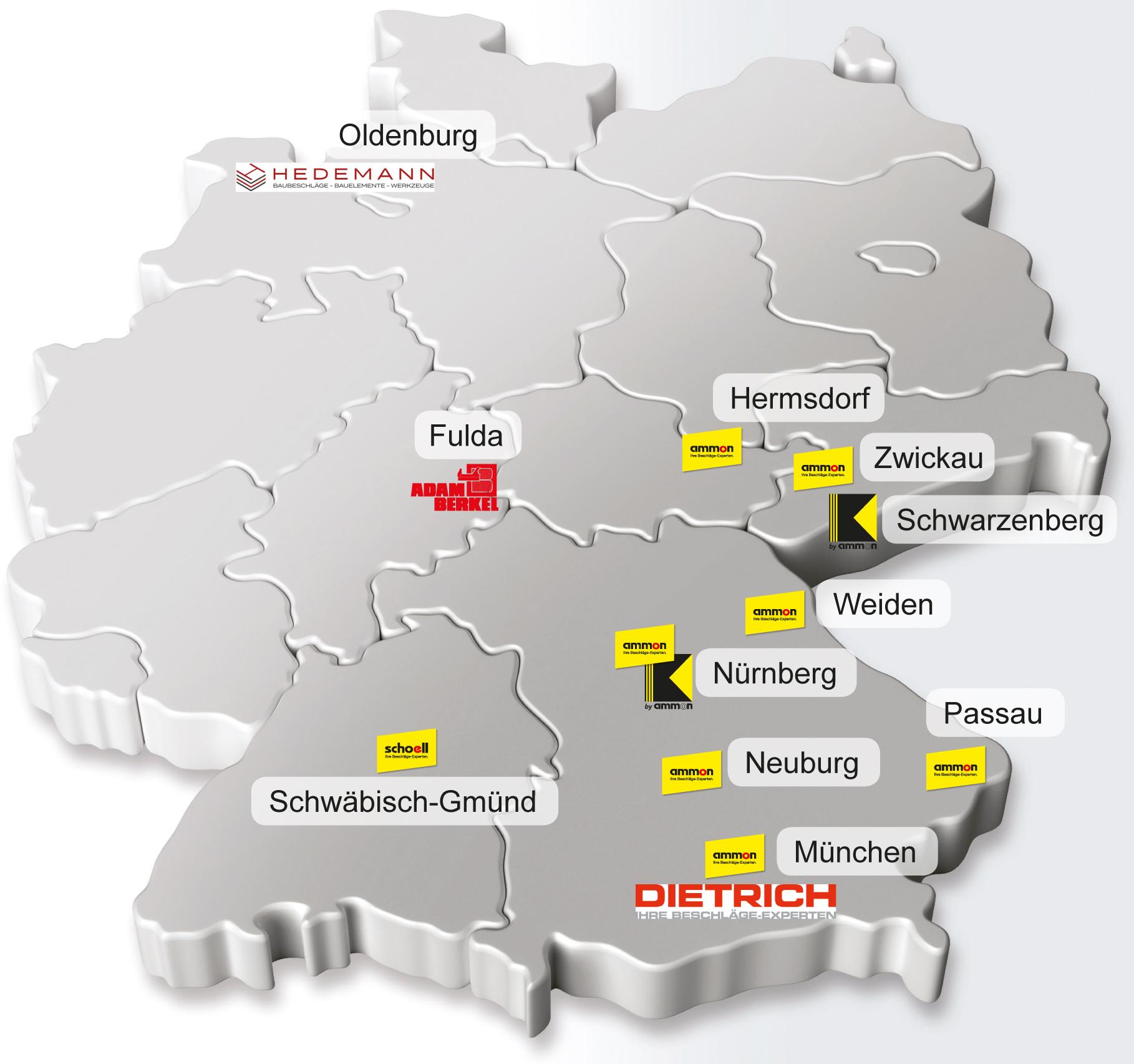Standorte Ammon Beschläge-Handels GmbH